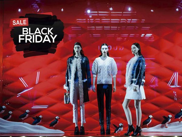 Vinilo Escaparate Black Friday Sale Negro | Carteles XXL - Impresión carteleria publicitaria