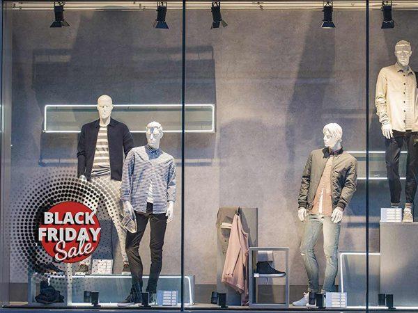 Vinilo Escaparate Black Friday Sales Rojo   Carteles XXL - Impresión carteleria publicitaria