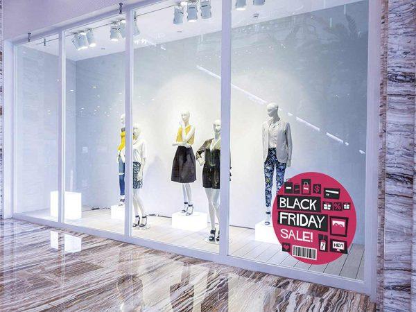 Vinilo Escaparate Black Friday Sale Rosa | Carteles XXL - Impresión carteleria publicitaria
