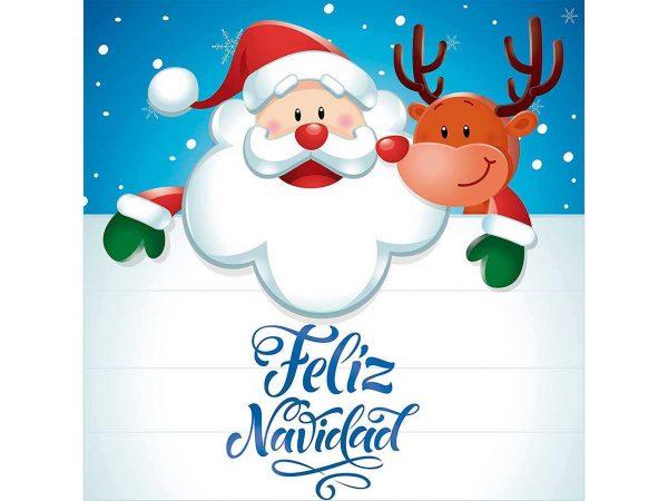 Vinilo Escaparate Papa Noel Feliz Navidad | Carteles XXL - Impresión carteleria publicitaria