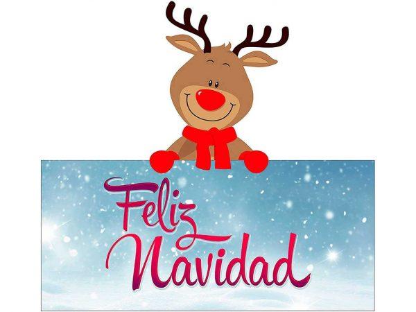 Vinilo Escaparate Reno Feliz Navidad | Carteles XXL - Impresión carteleria publicitaria