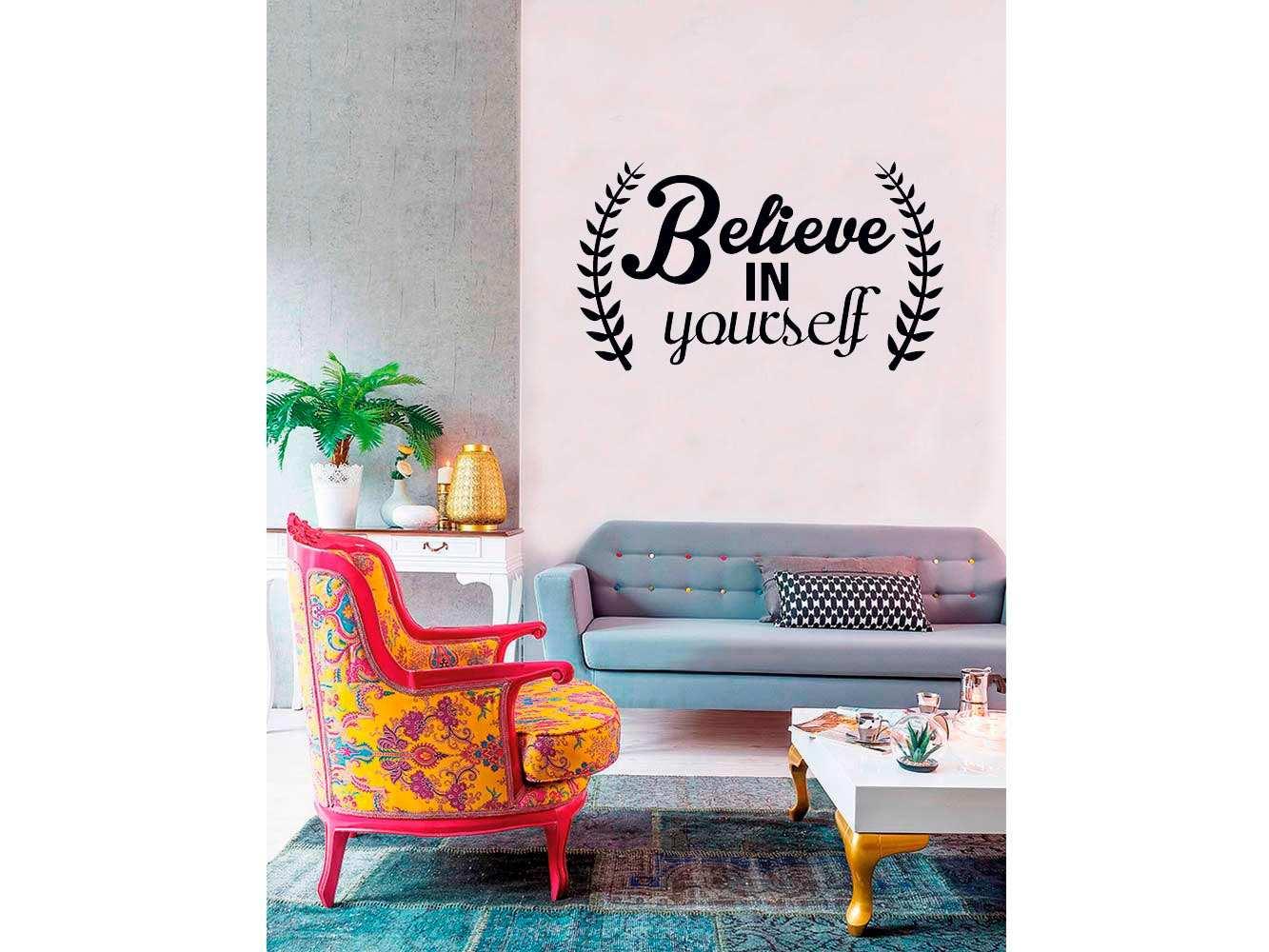Vinilo Frases Believe In Yourself | Carteles XXL - Impresión carteleria publicitaria