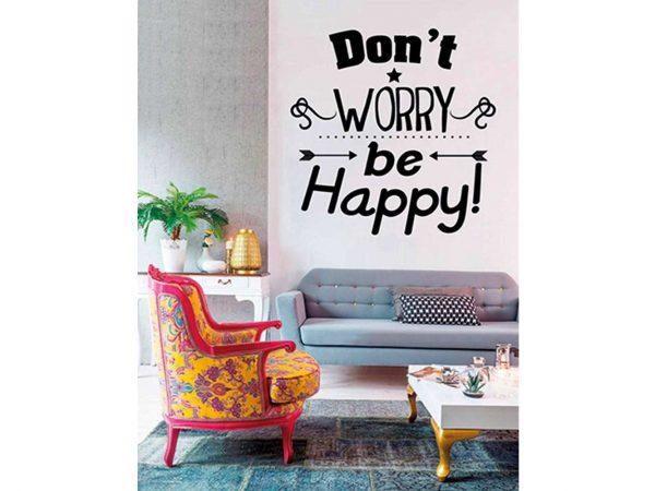 Vinilo Frases Dont Worry Be Happy | Carteles XXL - Impresión carteleria publicitaria