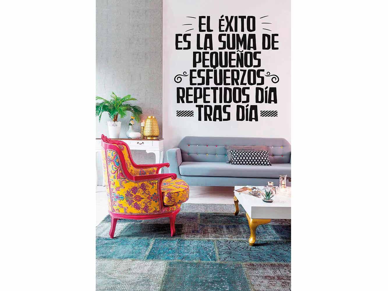 Vinilo Frases El Éxito es la Suma | Carteles XXL - Impresión carteleria publicitaria