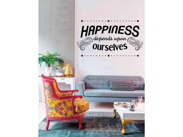 Vinilo Frases Happiness Ourselves | Carteles XXL - Impresión carteleria publicitaria