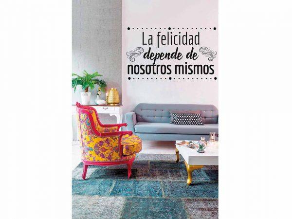 Vinilo Frases La Felicidad Depende de Nosotros | Carteles XXL - Impresión carteleria publicitaria