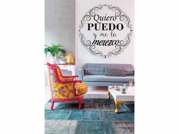 Vinilo Frases Quiero Puedo y Merezco | Carteles XXL - Impresión carteleria publicitaria