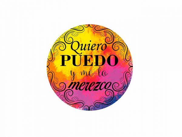 Vinilo Frases Quiero Puedo y Merezco Colores | Carteles XXL - Impresión carteleria publicitaria