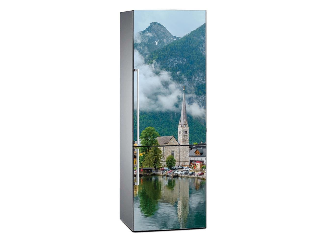 Vinilo Frigorífico Aldea en Los Alpes | Carteles XXL - Impresión carteleria publicitaria