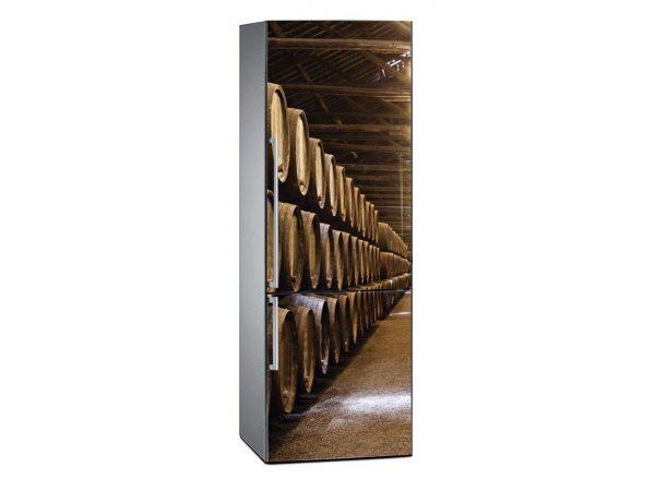 Vinilo Frigorífico Barriles de Barrica | Carteles XXL - Impresión carteleria publicitaria