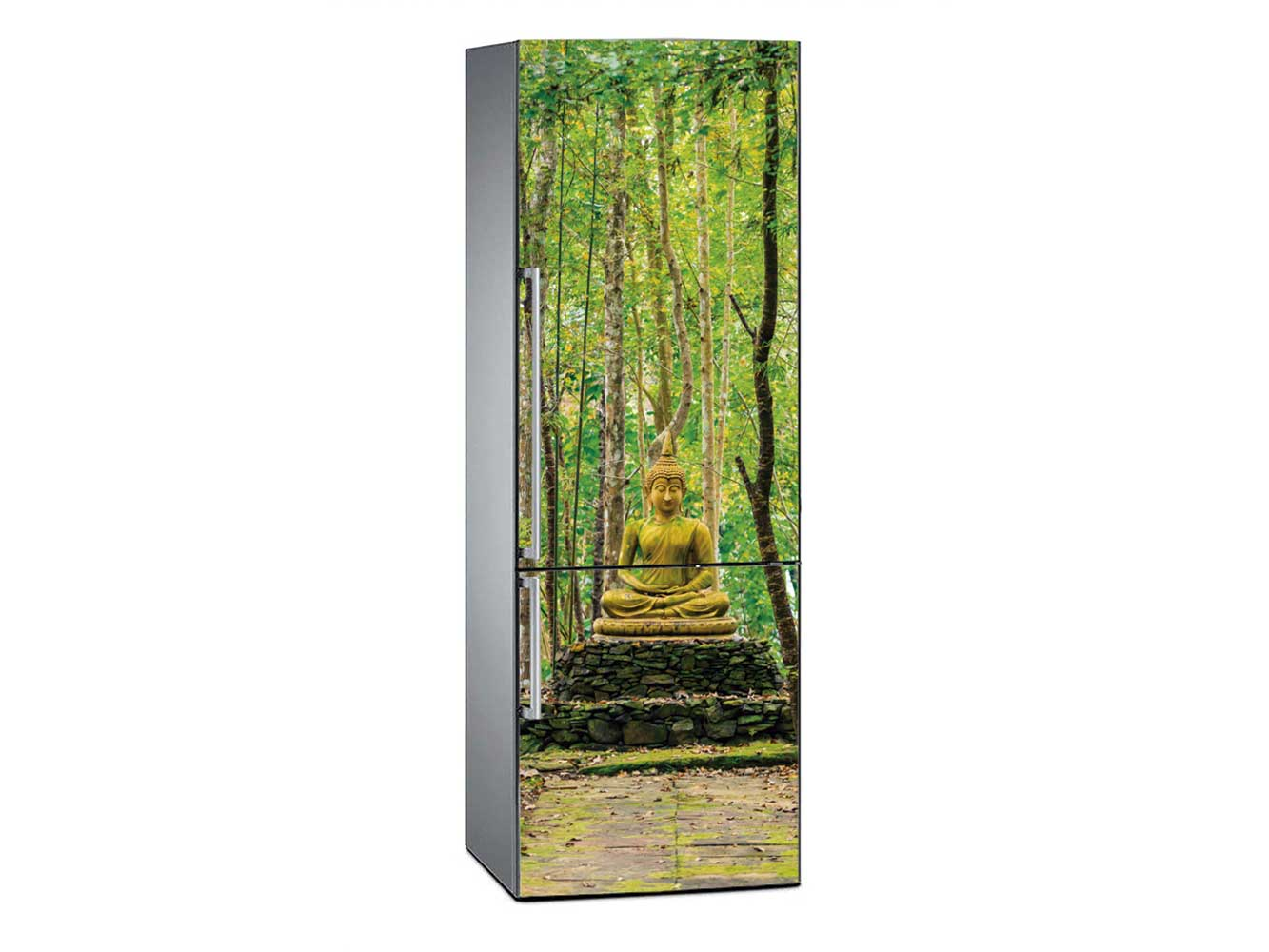 Vinilo Frigorífico Buda Bosque Bambú | Carteles XXL - Impresión carteleria publicitaria
