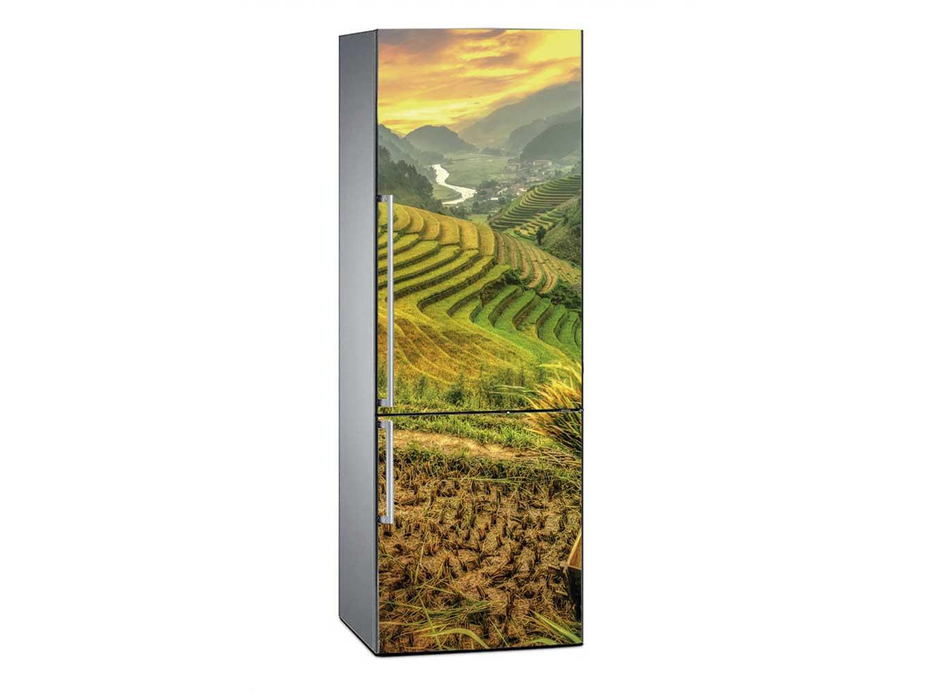 Vinilo Frigorífico Campos de Arroz Vietnam | Carteles XXL - Impresión carteleria publicitaria