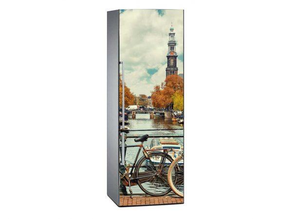 Vinilo Frigorífico Canal de Amsterdam | Carteles XXL - Impresión carteleria publicitaria