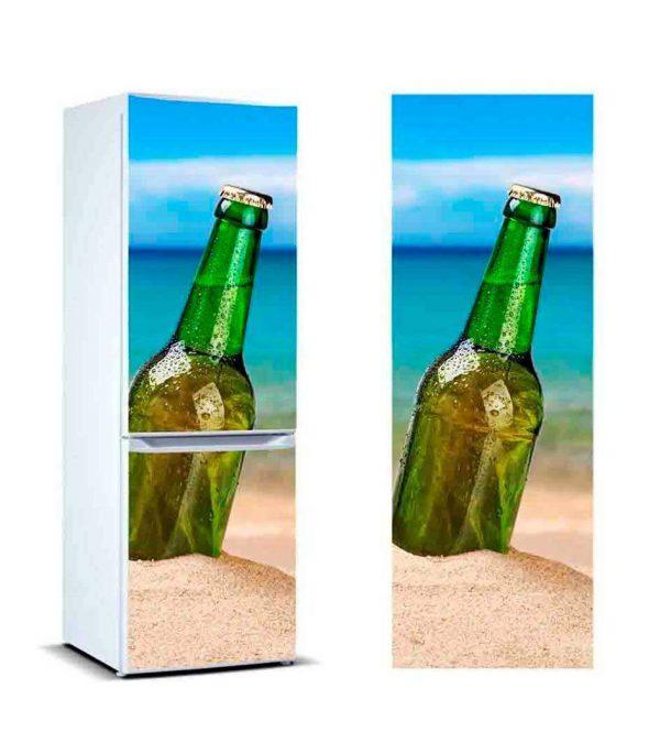 Vinilo Frigorífico Cerveza en la Arena | Carteles XXL - Impresión carteleria publicitaria