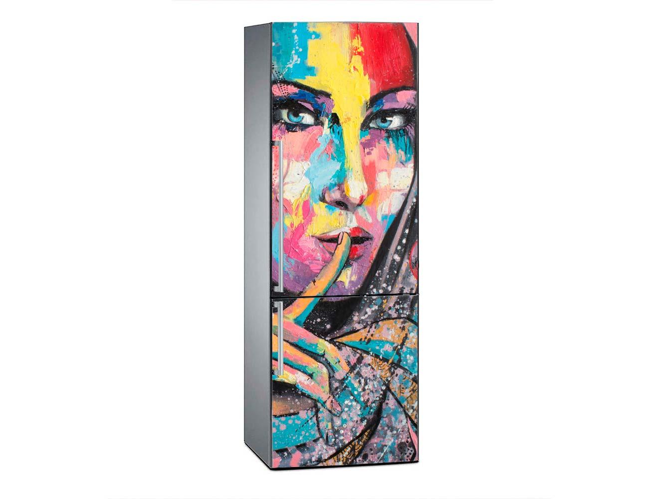 Vinilo Frigorífico Chica Mural Urbano | Carteles XXL - Impresión carteleria publicitaria
