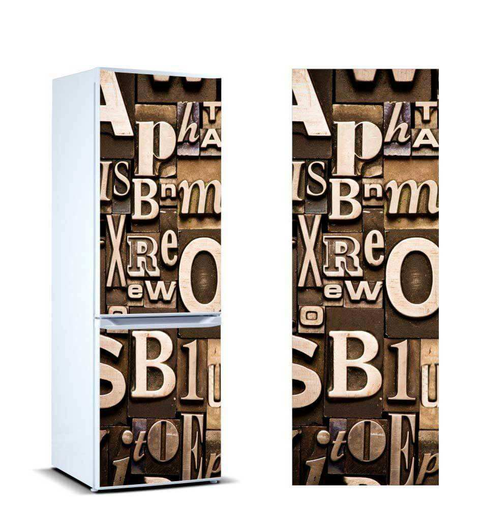Vinilo Frigorífico Composición Letras | Carteles XXL - Impresión carteleria publicitaria