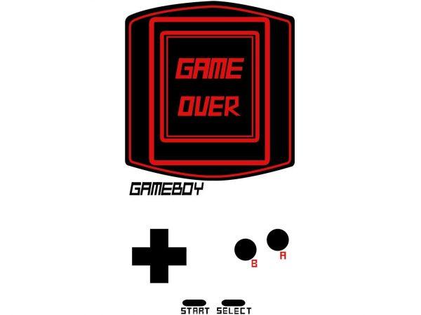 Vinilo Frigorífico Consola Game Over | Carteles XXL - Impresión carteleria publicitaria