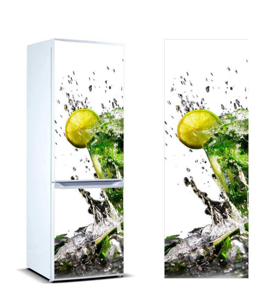 Vinilo Frigorífico Copa Rodajas de Limón | Carteles XXL - Impresión carteleria publicitaria