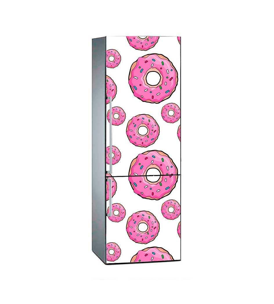 Vinilo Frigorífico Rosquillas Rosas | Carteles XXL - Impresión carteleria publicitaria