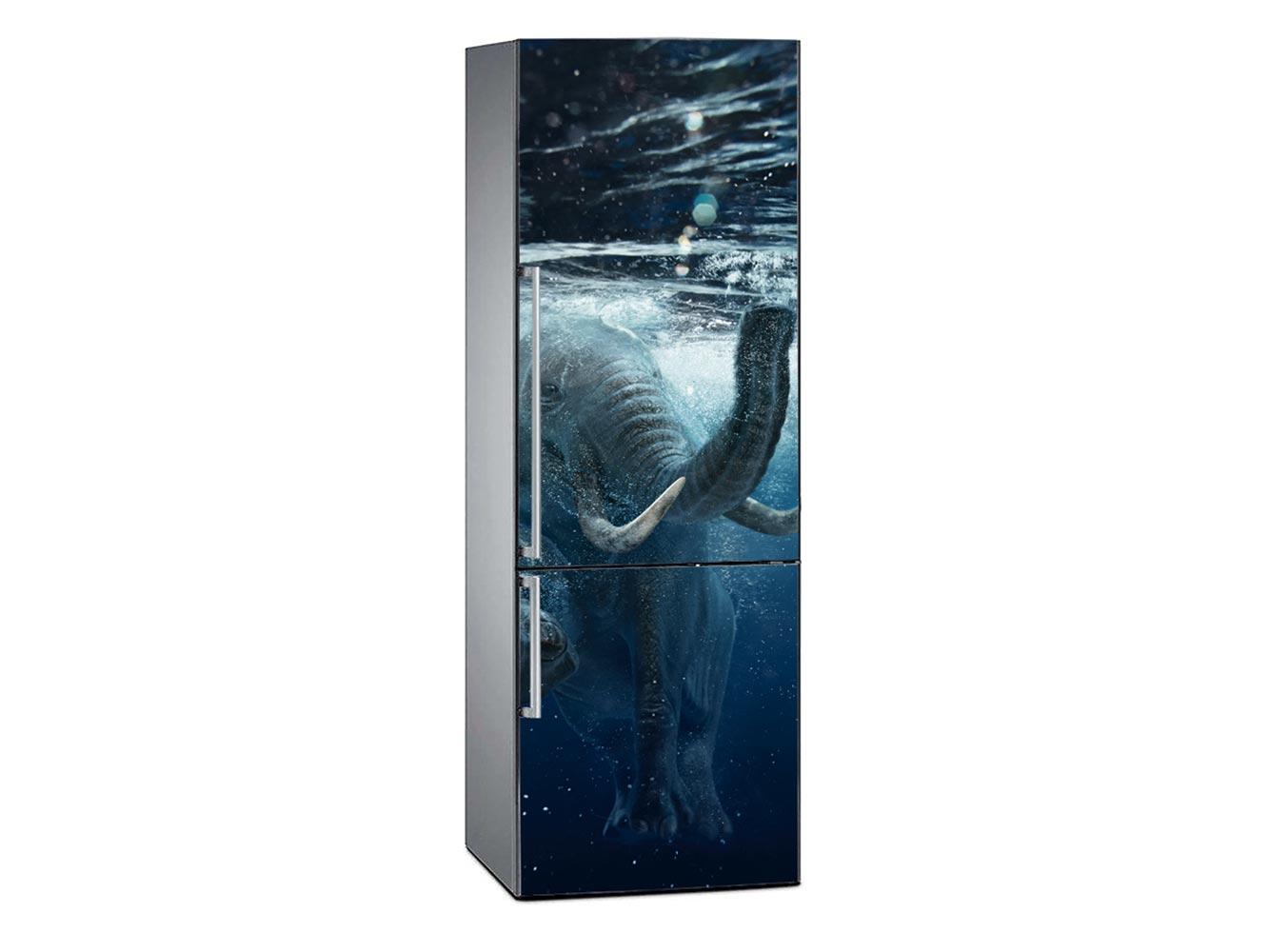 Vinilo Frigorífico Elefante Bajo el Agua | Carteles XXL - Impresión carteleria publicitaria