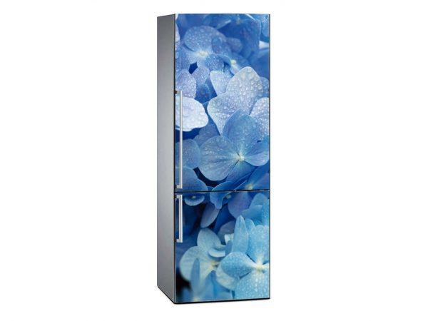 Vinilo Frigorífico Estampado Floral Azul | Carteles XXL - Impresión carteleria publicitaria