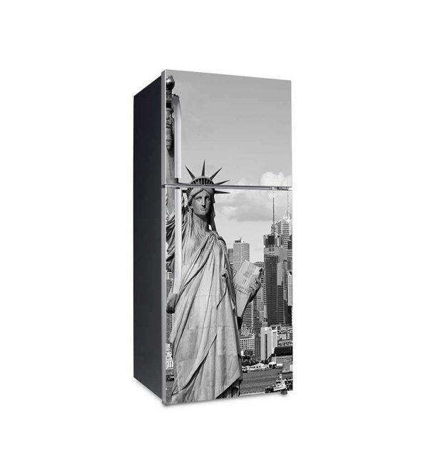 Vinilo Frigorífico Estatua de la Libertad | Carteles XXL - Impresión carteleria publicitaria
