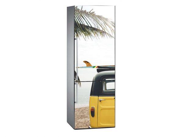 Vinilo Frigorífico Furgo Playa Tropical | Carteles XXL - Impresión carteleria publicitaria