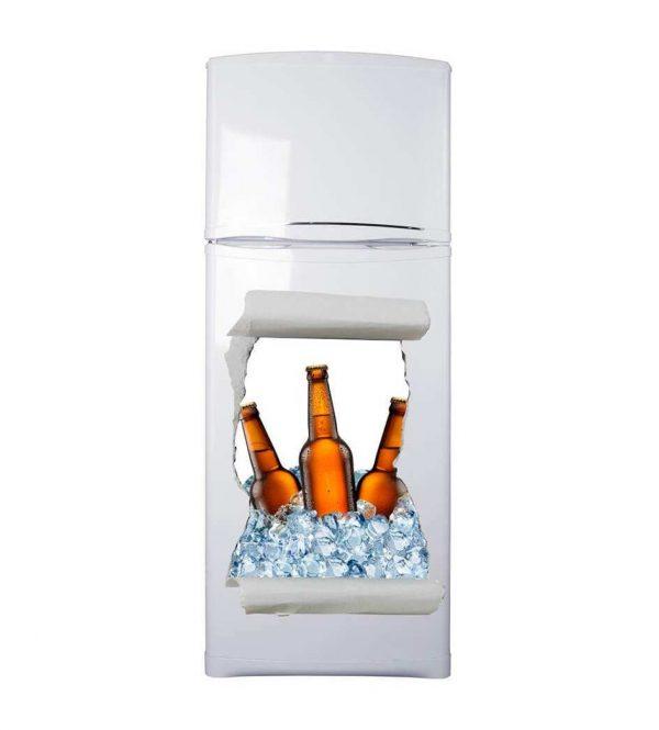 Vinilo Frigorífico Hueco Cerveza 3D | Carteles XXL - Impresión carteleria publicitaria