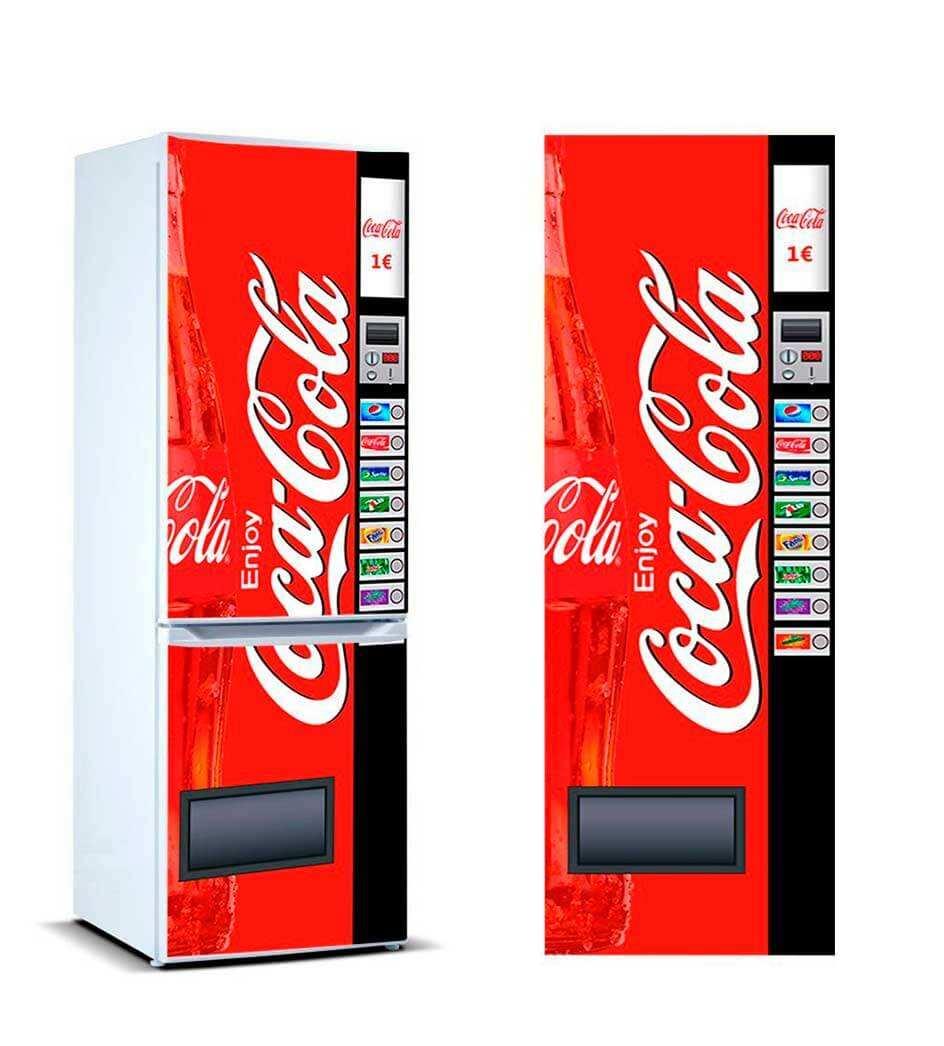 Vinilo Frigorífico Máquina Expendedora Refrescos Cola | Carteles XXL - Impresión carteleria publicitaria