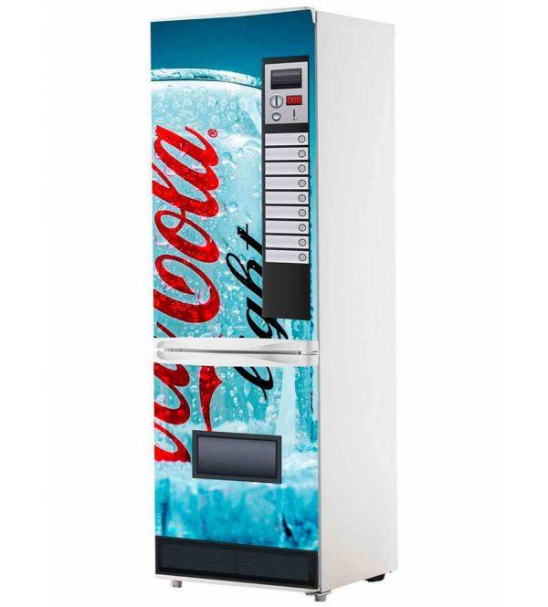 Vinilo Frigorífico Máquina Coca-Cola Azul | Carteles XXL - Impresión carteleria publicitaria