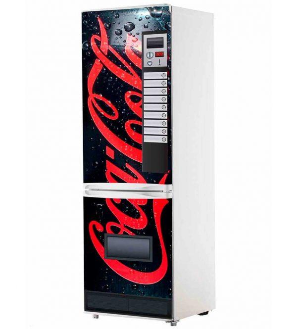 Vinilo Frigorífico Máquina Coca-Cola Negro | Carteles XXL - Impresión carteleria publicitaria
