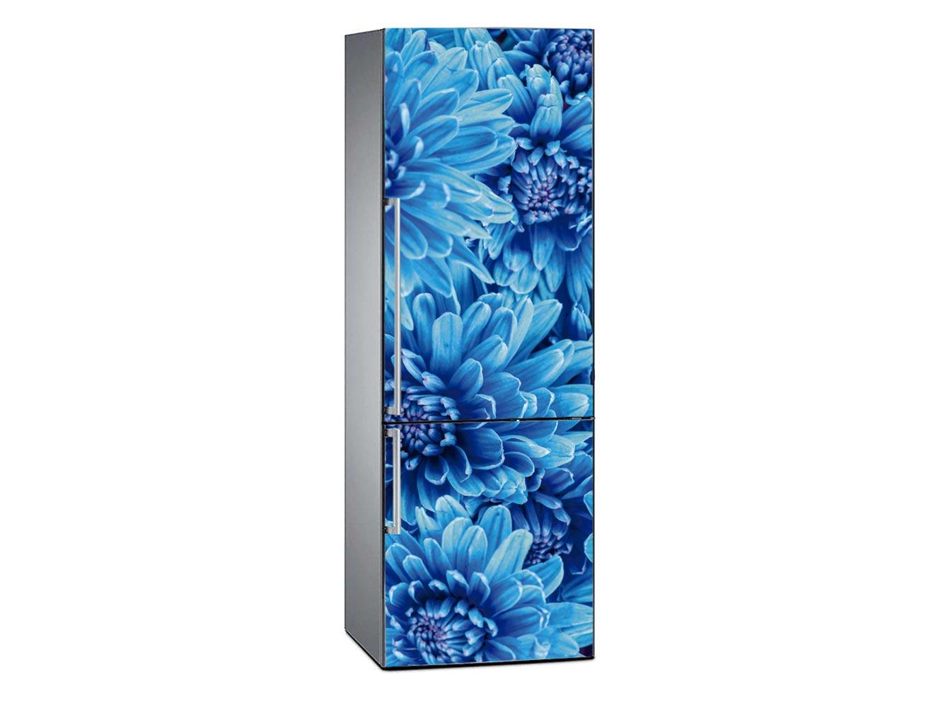 Vinilo Frigorífico Margaritas Azules | Carteles XXL - Impresión carteleria publicitaria