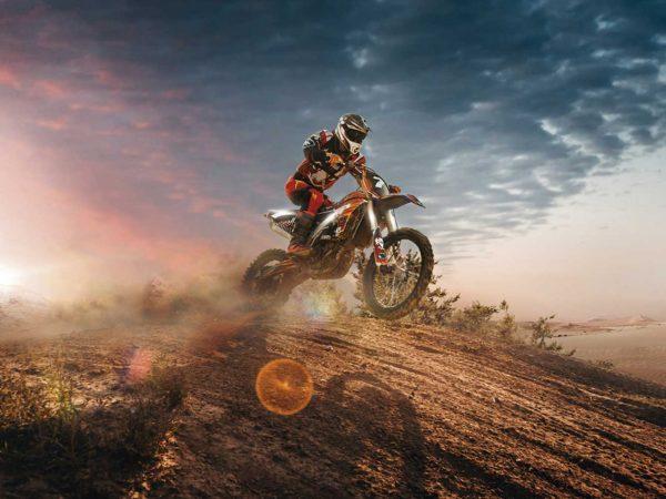 Vinilo Frigorífico Motocross Anochecer | Carteles XXL - Impresión carteleria publicitaria