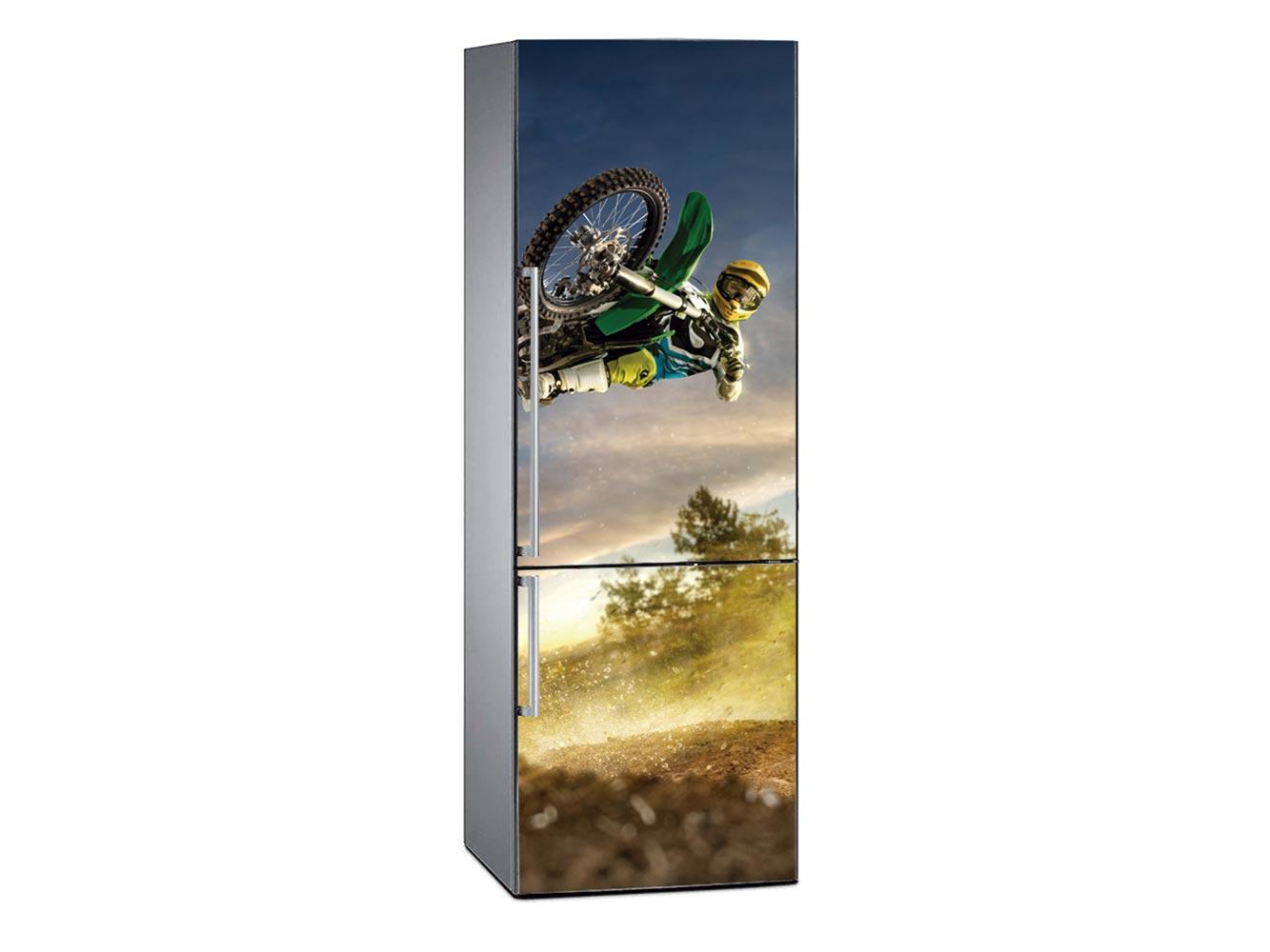 Vinilo Frigorífico Motocross Atardecer | Carteles XXL - Impresión carteleria publicitaria