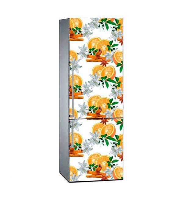 Vinilo Frigorífico Naranjas Canela Azahar | Carteles XXL - Impresión carteleria publicitaria