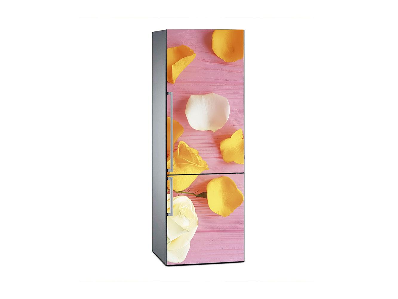 Vinilo Frigorífico Pétalos Madera Rosa | Carteles XXL - Impresión carteleria publicitaria