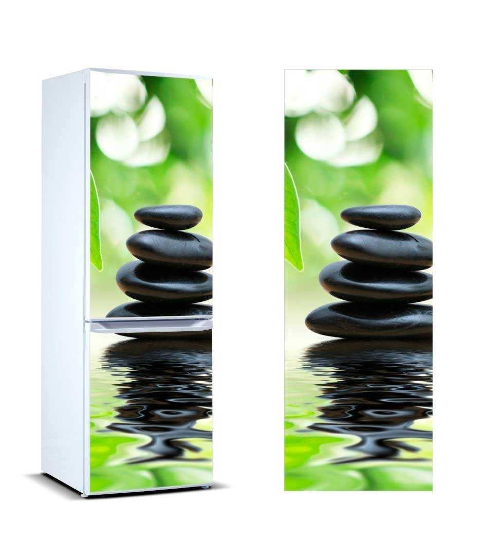 Vinilo Frigorífico Piedras Negras Reflejo | Carteles XXL - Impresión carteleria publicitaria