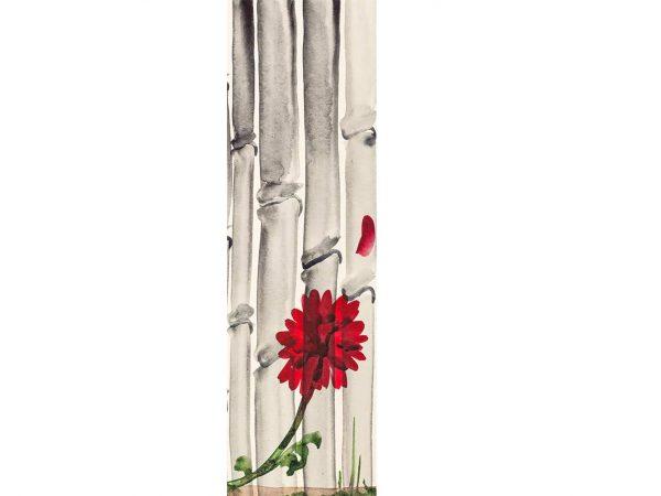 Vinilo Frigorífico Pintura Flor Bambú | Carteles XXL - Impresión carteleria publicitaria