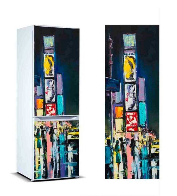 Vinilo Frigorífico Pintura Nueva York | Carteles XXL - Impresión carteleria publicitaria