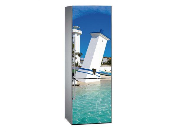 Vinilo Frigorífico Playa Riviera Maya | Carteles XXL - Impresión carteleria publicitaria