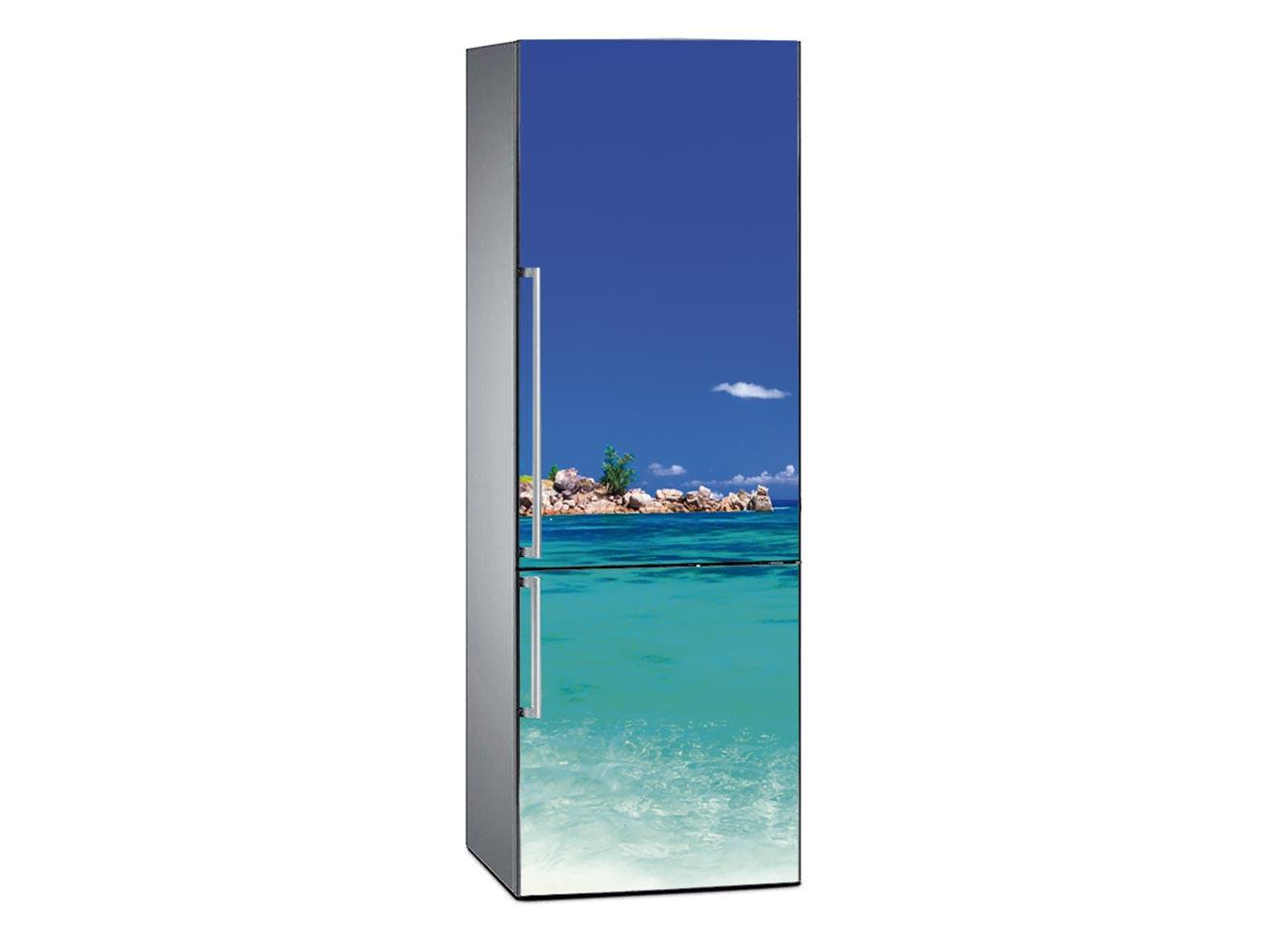 Vinilo Frigorífico Playa Tropical Cristalina | Carteles XXL - Impresión carteleria publicitaria