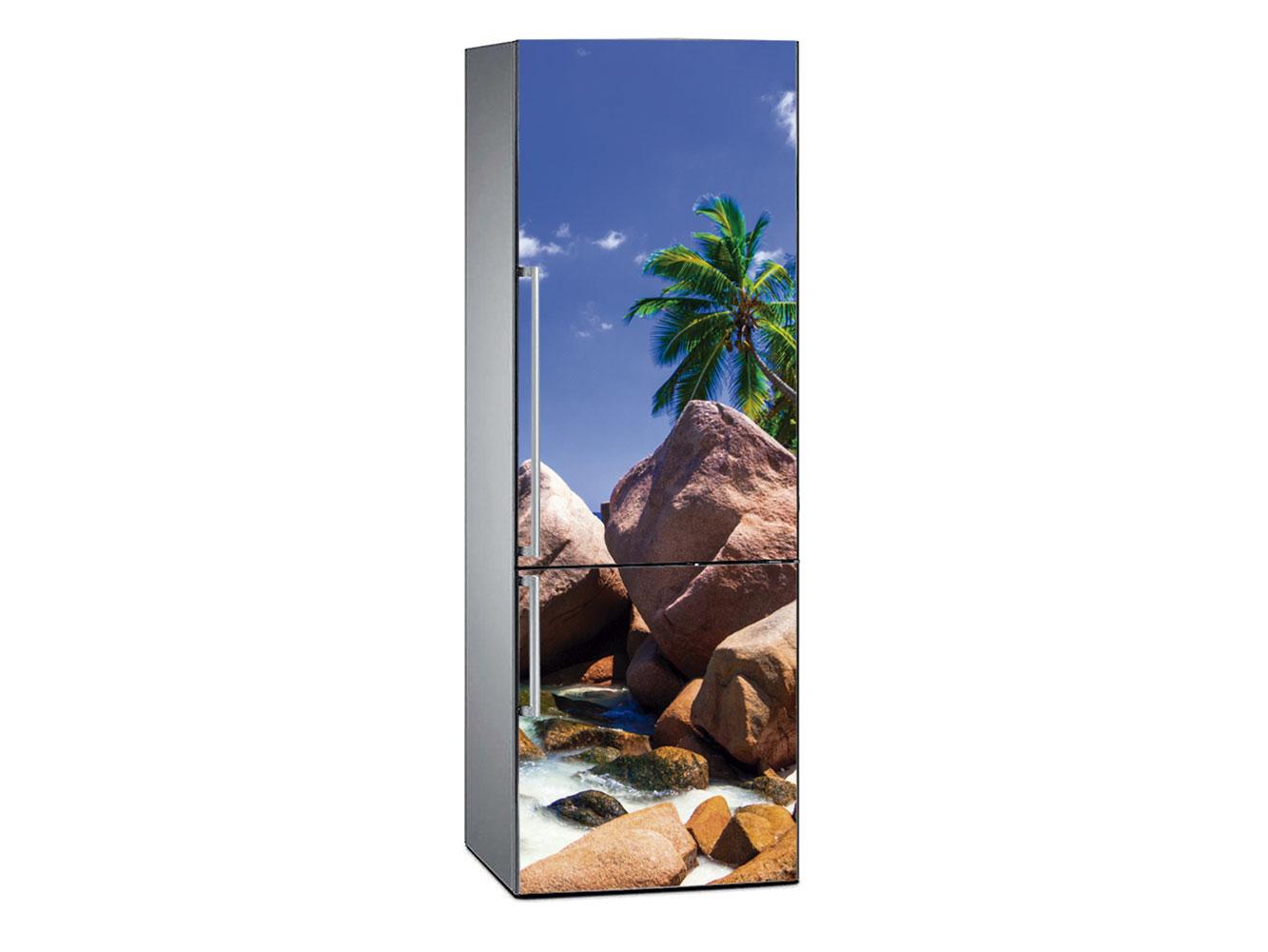 Vinilo Frigorífico Playa Tropical Cristalina 2 | Carteles XXL - Impresión carteleria publicitaria