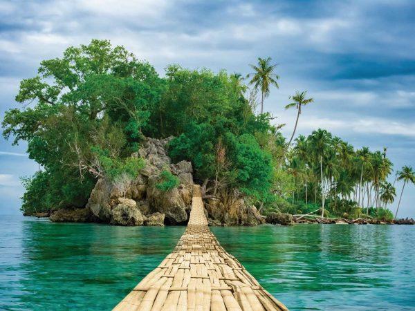Vinilo Frigorífico Puente hacia Isla | Carteles XXL - Impresión carteleria publicitaria