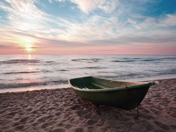 Vinilo Frigorífico Puesta de Sol en la Playa | Carteles XXL - Impresión carteleria publicitaria