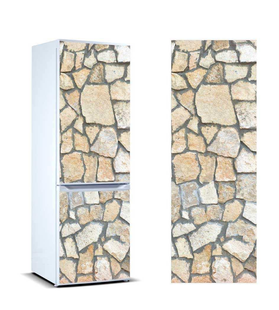 Vinilo Frigorífico Revestimiento Piedra Caliza | Carteles XXL - Impresión carteleria publicitaria