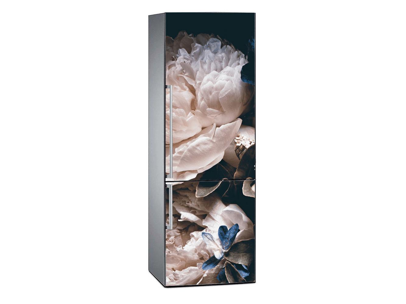 Vinilo Frigorífico Rosas Blancas | Carteles XXL - Impresión carteleria publicitaria
