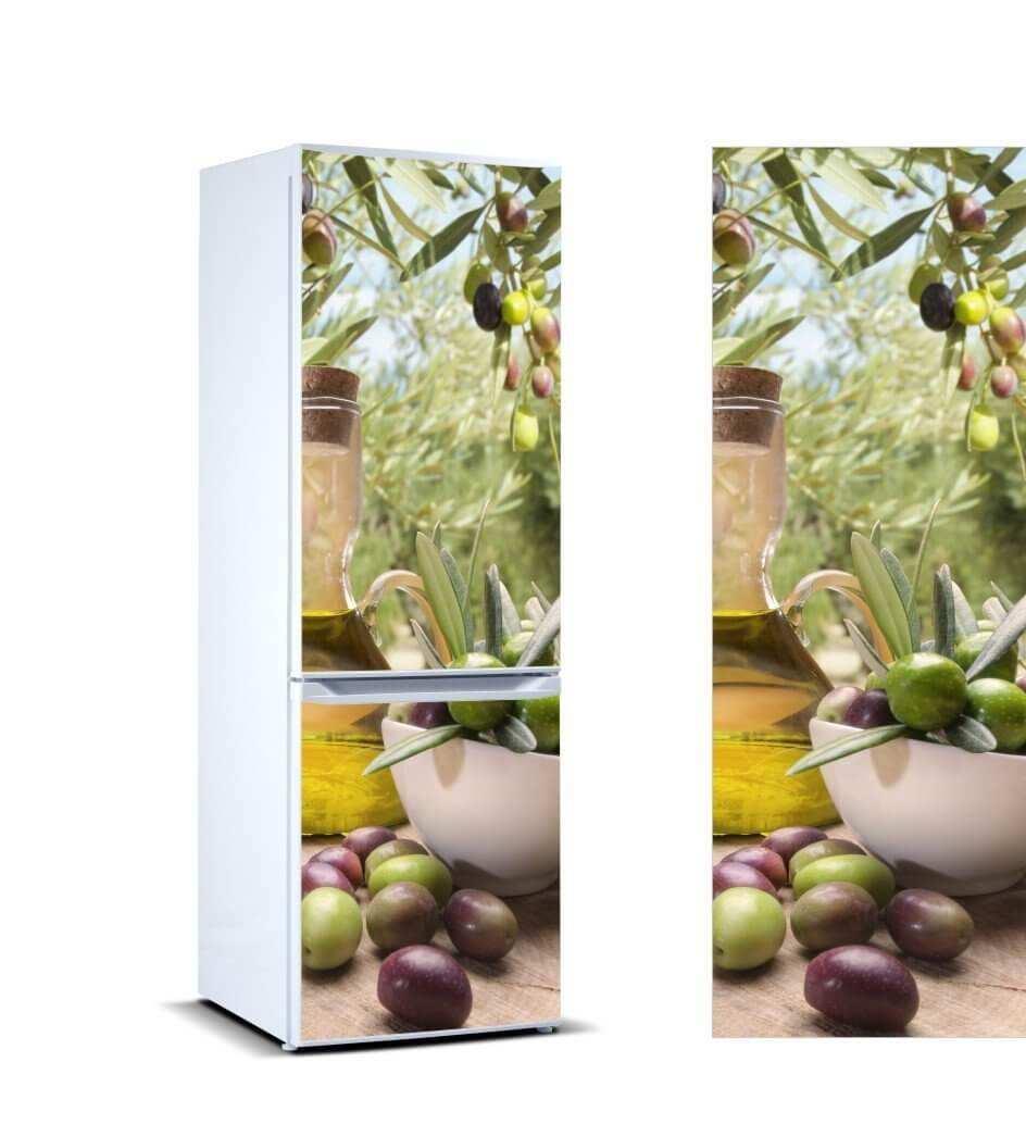Vinilo Frigorífico Taza Aceitunas | Carteles XXL - Impresión carteleria publicitaria