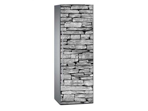 Vinilo Frigorífico Textura Piedras Grises | Carteles XXL - Impresión carteleria publicitaria