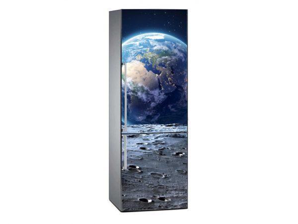 Vinilo Frigorífico Tierra sobre la Luna | Carteles XXL - Impresión carteleria publicitaria