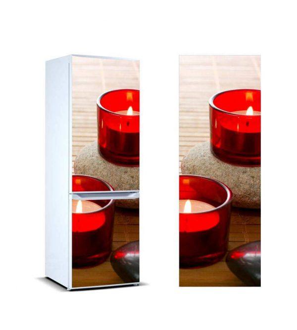 Vinilo Frigorífico Velas Rojas | Carteles XXL - Impresión carteleria publicitaria